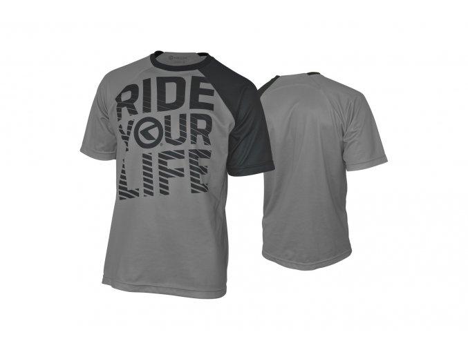 KELLYS Enduro dres RIDE YOUR LIFE krátký rukáv grey