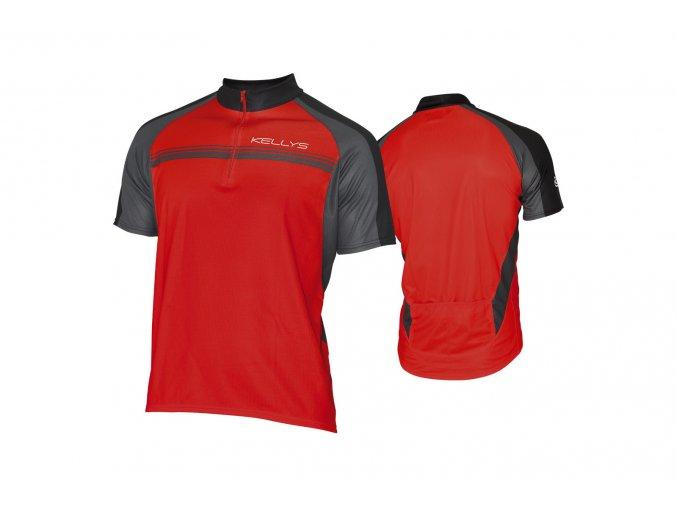 KELLYS Dres PRO Sport krátký rukáv red