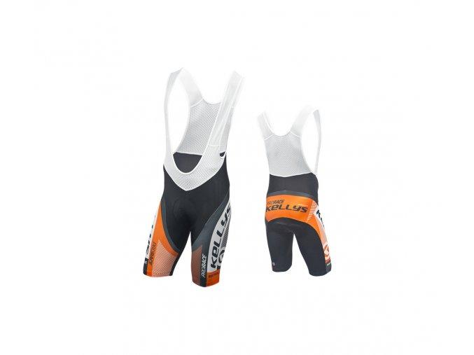 KELLYS Cyklokalhoty PRO Race krátké s vložkou orange - (016)