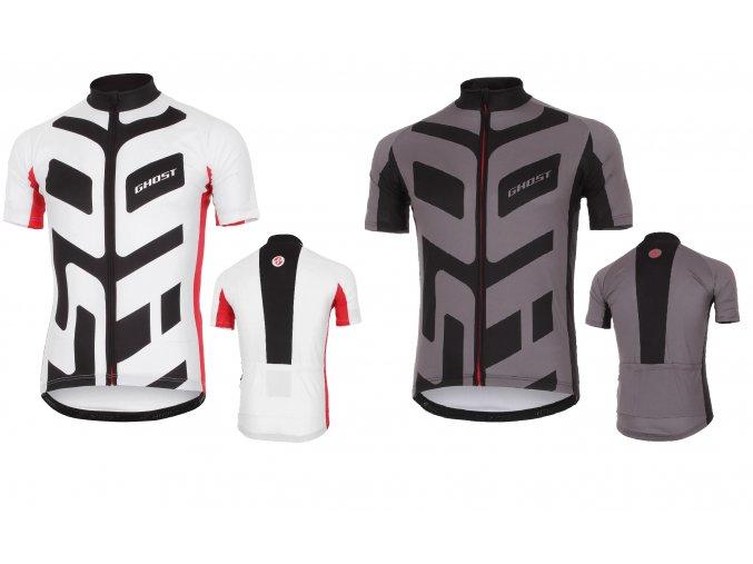 GHOST oblečenie Séria RACE ➜ Dres krátky rukáv 2016