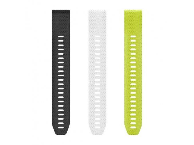 Řemínky pro fenix5S - QuickFit 20, dlouhé, černý, bílý, žlutý (jen část bez přezky)