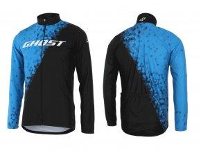 GHOST oblečenie Dres RACE dlhý rukáv blue/black 2015