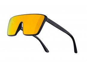 brýle FORCE SCOPE,černé mat-lesk,oranžová zrc.skla