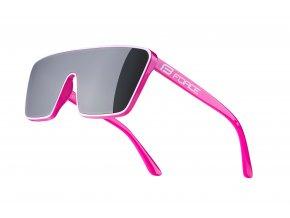 brýle FORCE SCOPE, růžovo-bílé, černá zrc. skla