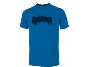 GHOST oblečenie Tričko / Shirt MTN Casual Line Woods - blue / black 2019