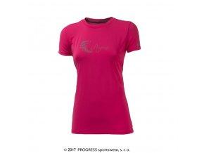 triko krátké dámské Progress PANTERA růžové