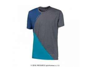 triko krátké pánské Progress CRUISER šedo/modré