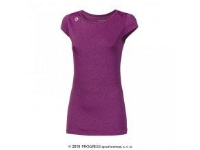 triko krátké dámské Progress MERIDA fialové