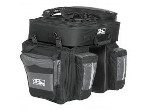 brašna M-Wave Amsterdam trojbrašna s batohem černo-šedá