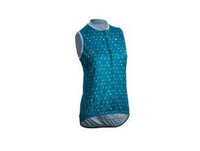 sugoi womens evolution zap sleeveless jersey ocean depth origami print 1