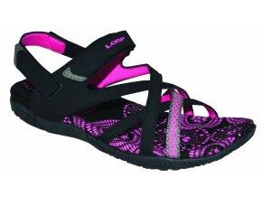 boty dámské LOAP CAIPA sandály černo/růžové