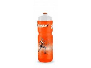 lahev ISOSTAR 800ml BIDON BĚŽEC oranžová  - bílé víčko