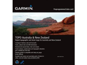 Turist. mapa TOPO Australia & New Zealand DVD