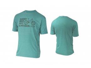 KELLYS Tričko BIKE MISSION krátký rukáv Green
