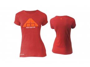 KELLYS Tričko WOMENS BIKER krátký rukáv Red