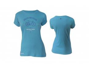 KELLYS Tričko WOMENS BIKE MISSION krátký rukáv Blue