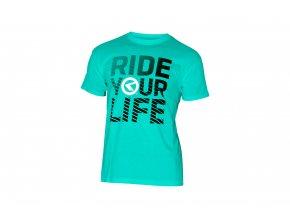 KELLYS Tričko RIDE YOU LIFE krátký rukáv Turquoise