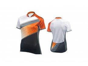KELLYS Dres JODY krátký rukáv orange - grey - (016)