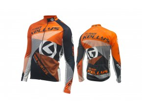 KELLYS Dres PRO Race dlouhý rukáv orange - (016)