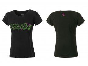 GHOST oblečenie Triko Dámské DREAMR Black / Green 2017