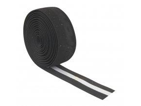 omotávka FORCE korková s vytláčeným logem, černá