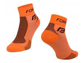 ponožky FORCE 1, oranžovo-černé