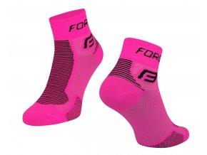 ponožky FORCE 1, růžovo-černé