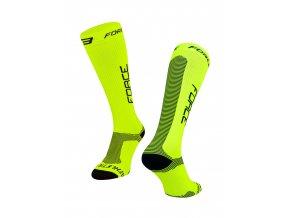 ponožky F ATHLETIC PRO KOMPRES, fluo-černé