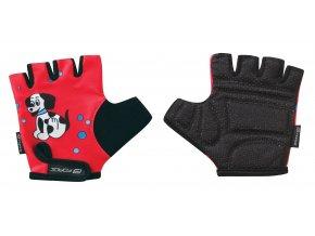 rukavice FORCE KID dětské, červené-pejsek