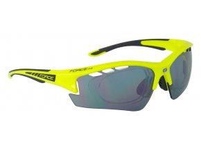 brýle F RIDE PRO fluo diop.klip,černá laser skla