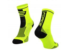 ponožky F LONG, fluo-černé