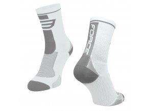 ponožky F LONG, bílo-šedé