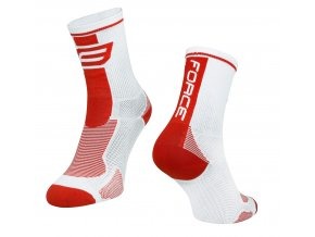 ponožky F LONG, bílo-červené