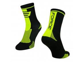 ponožky F LONG, černo-fluo