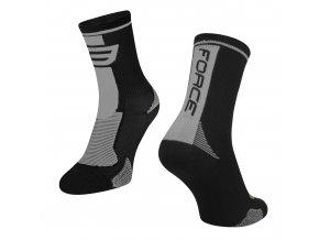 ponožky F LONG, černo-šedé