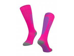 ponožky FORCE TESSERA KOMPRESNÍ, růžové