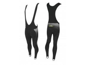 kalhoty F DRIFT WIND se šráky bez vložky,černé