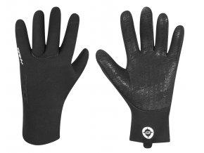 rukavice neoprénové FORCE RAINY, černé