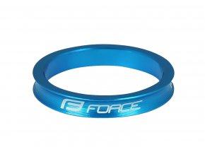 "podložka FORCE 1 1/8"" AHEAD 5 mm Al, modrá"