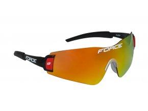 brýle FORCE FLASH, černo-červené, červ. laser skla