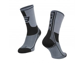 ponožky F LONG PLUS, šedo-černé