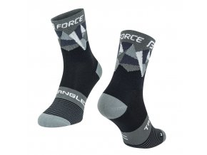 ponožky F TRIANGLE, černo-šedé