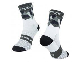 ponožky F TRIANGLE, bílo-šedo-černé