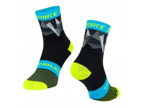 ponožky F TRIANGLE,černo-fluo-modré