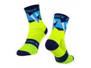 ponožky F TRIANGLE, fluo-modré