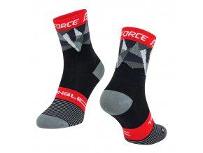 ponožky F TRIANGLE, černo-šedo-červené