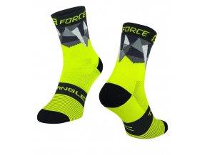ponožky F TRIANGLE, fluo-černé
