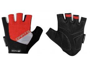 rukavice F DARTS gel bez zapínání,červeno-šedé