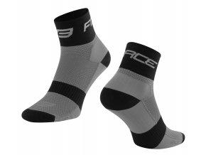 ponožky FORCE SPORT 3, šedo-černé