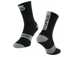 ponožky FORCE LONG PRO, černo-šedé